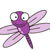 Purple dragonflies